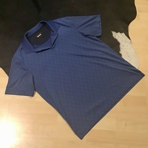Flawless Van Heusen Traveler Blue Diamond Polo